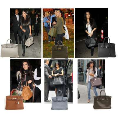 Kim Kardashian and her Birkins