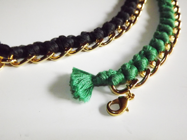 diy: aurelie bidermann bracelet