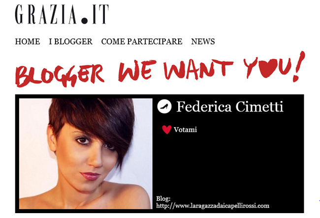 it-blogger grazia: le votazioni sono aperte