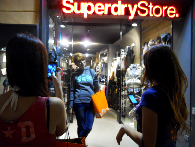 Superdry opening party