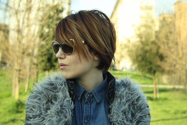 Fashion Blogger fur coat