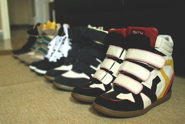 wedges sneakers addicted