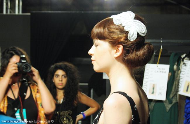 Mireille Dagher AltaRoma Backstage