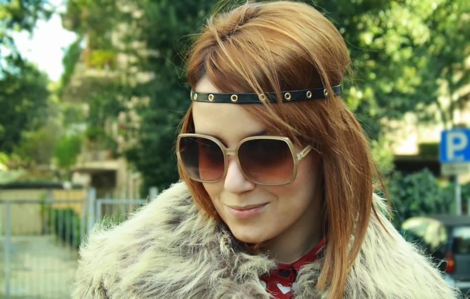 Outfit pelliccia anni 70