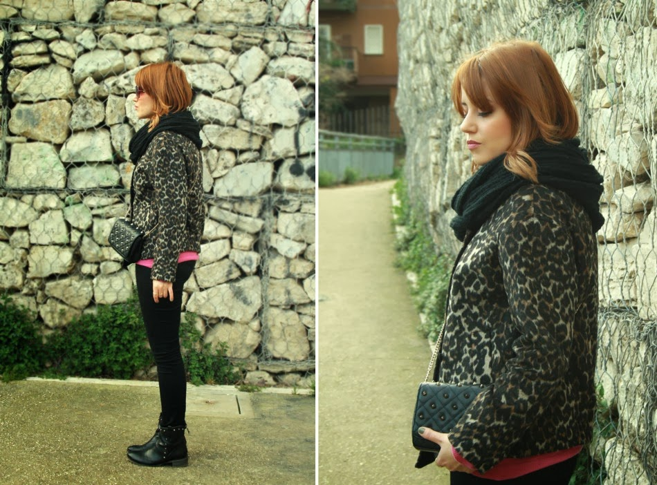 Outfit cappotto leopardato