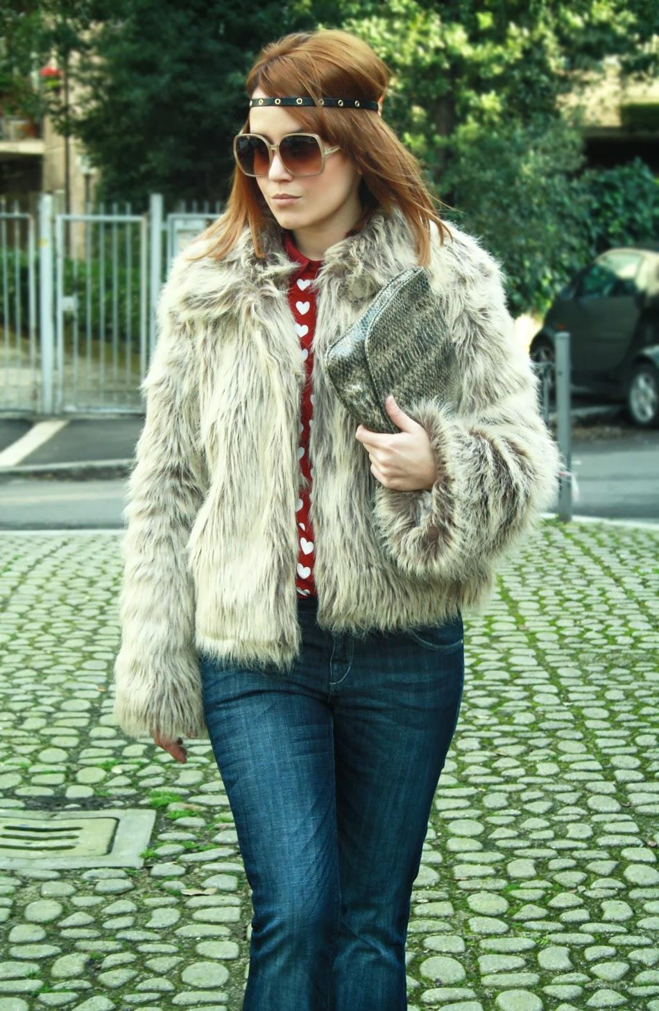Outfit pelliccia