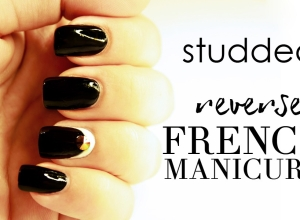 REVERSE FRENCH MANICURE TUTORIAL (CON BORCHIE)