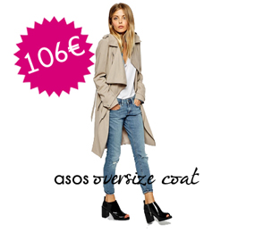ASOS oversize trench
