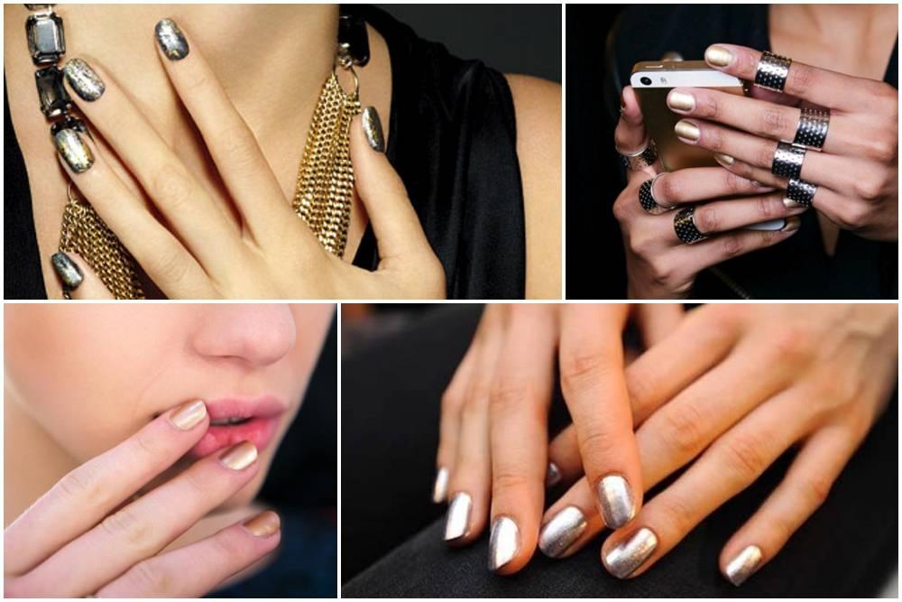 trend unghie 2014 metalizzate