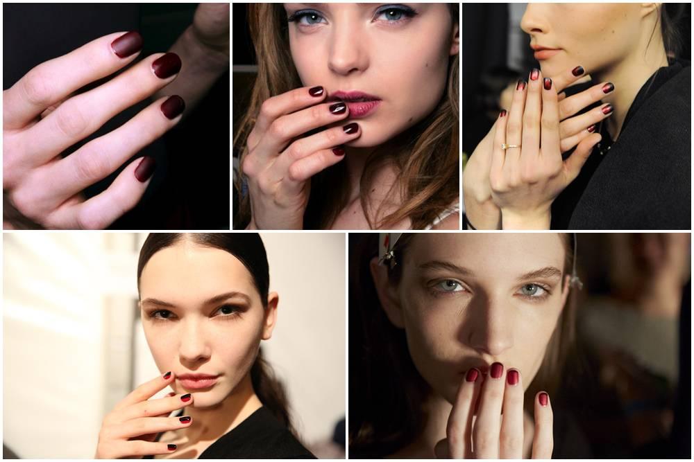 trend unghie 2014 rosso
