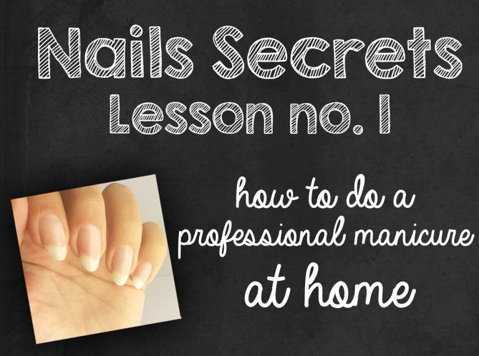 tutorial manicure