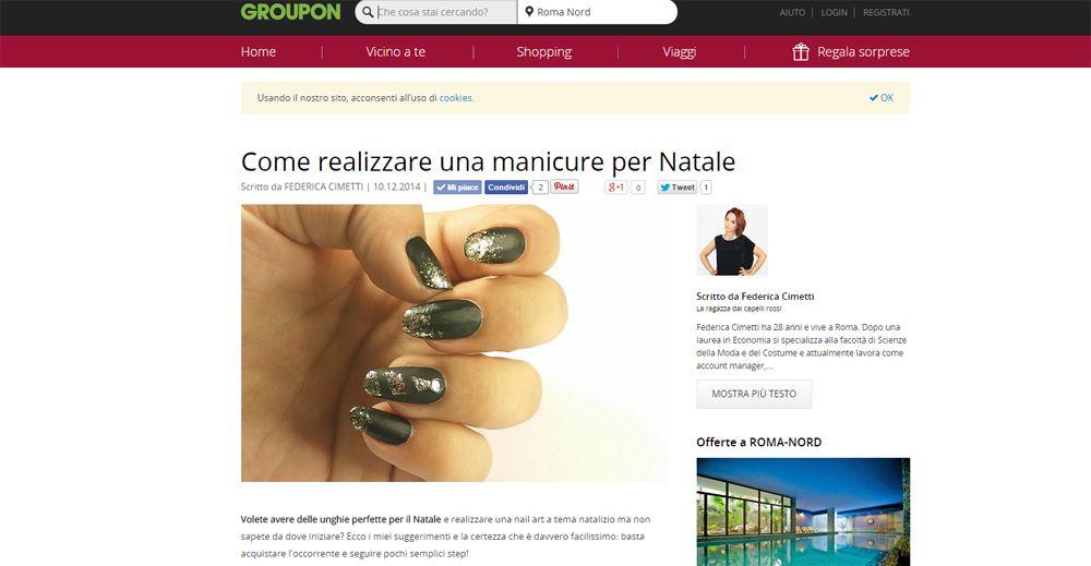 GrouponMag Nail Art Natale
