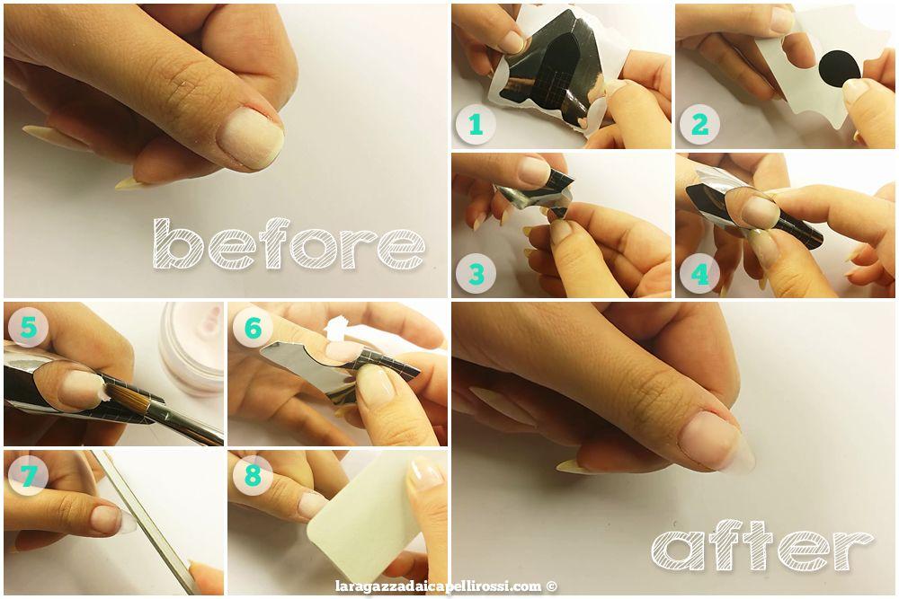 ricostruzione unghie gel passaggi