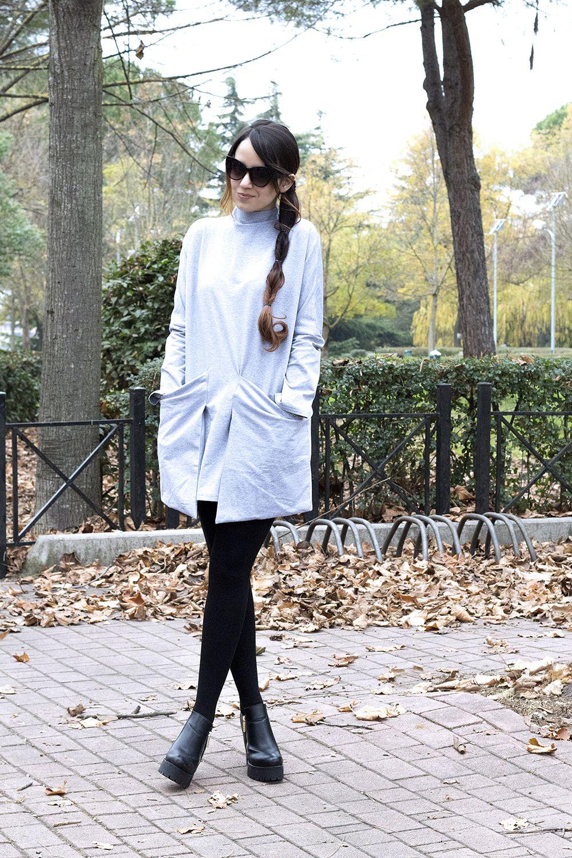 Outfit invernale abito grigio