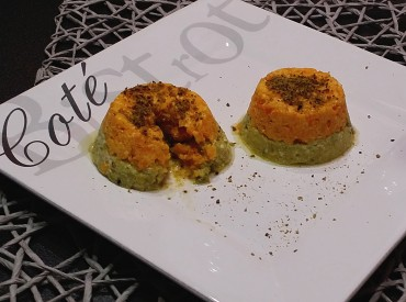 FIT FOOD: FLAN BICOLORE RICOTTA E VERDURE