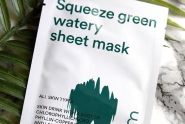 KOREA BEAUTY: E NATURE SQUEEZE GREEN WATERY SHEET MASK