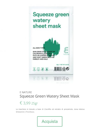 BUY SQUEEZE GREEN WATERY MASK
