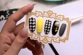 TUTORIAL UNGHIE PIED DE POULE NAIL ART (SMALTI GEL)